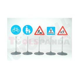 Пътни знаци детски 2 73см. 5бр. 3г.