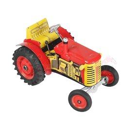 Трактор червен Zetor 16х9х11см. 1:25 5г.