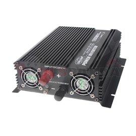 Преобразувател на ток от 24/230V + USB 1200W