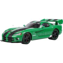 Макет на кола с дистанционно зелена RC Dodge Viper 1:16 7г.