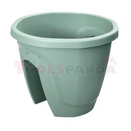 Саксия за балкон кръгла зелена №1 29.7x29.7х24см. 7.5л. Emerald