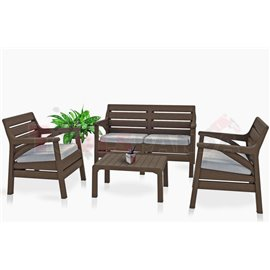 Мебели градински кафеви 4 части Miami