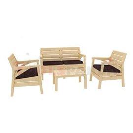 Мебели градински капучино 4 части Miami
