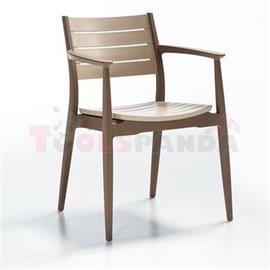 Стол кафяв/капучино Regnum 44.5х56х81.5см.