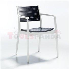Стол бял/антрацит Seginus 44х56х81.5см.