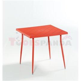 Маса оранжева Carmen 80х80х75.5см.