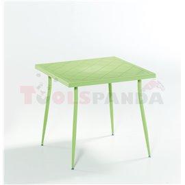 Маса зелена Carmen 80х80х75.5см.