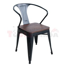 Стол с подлакътник дърво/метал 56х51х80см.