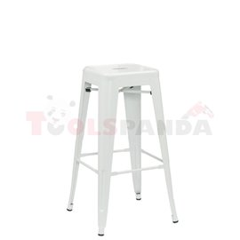 Бар стол метален Retro white 43х43х76см.