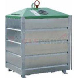 Метален контейнер с долно изсипване 1,5куб.м-за стъкло - MEVA