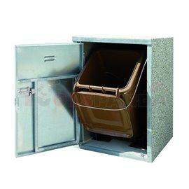 Станция за пластмасови съдове за отпадъци 120 и 240 л., 840 х 880 х 1280 мм - MEVA