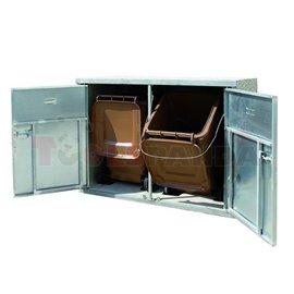 Станция за пластмасови съдове за отпадъци 120 и 240 л., 1620 х 880 х 1280 мм - MEVA