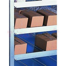 Стелажи с наклонени рафтове, едностранен, 1000 х 500 х 2000 мм, пристроена площ - MEVA