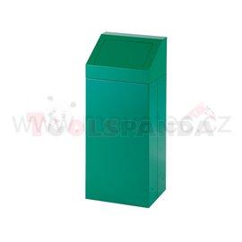 Кош за отпадък със свалящ се капак-зелен - MEVA