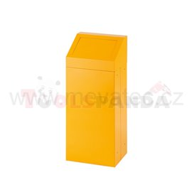 Кош за отпадък със свалящ се капак-жълт - MEVA