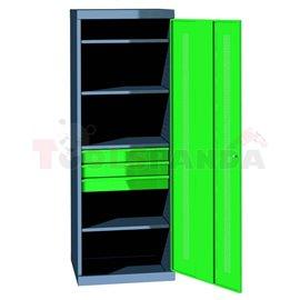 Шкафове за работилници - 3 чекмеджета, 3 рафта | MEVA