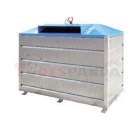 Метален контейнер с долно изсипване 2,5куб.м-за пластмаса - MEVA