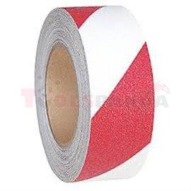 Лента срещу подхлъзване - червено-бяла 50 mm х 18,3 m - MEVA
