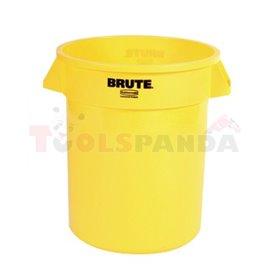 Контейнер (без капак)Round Brute 75,7L-жълт - MEVA