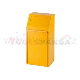 Обръщаемо кошче - 40L-жълто - MEVA