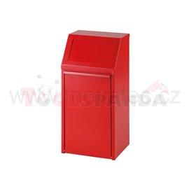 Обръщаемо кошче - 40L-червено - MEVA