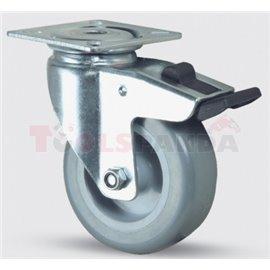 Пластмасово колело Ф100 със застопоряване - MEVA