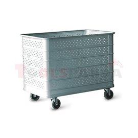 Алуминиева количка перфорирана 480л - MEVA