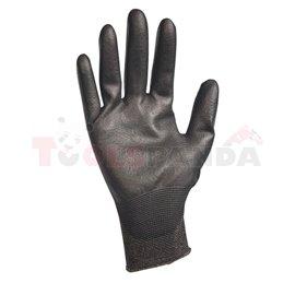 Плетени найлонови ръкавици BUNTING BLACK-9 - MEVA