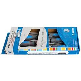 Комплект отвертки плоски и кръстати с шестограм TBI - UNIOR