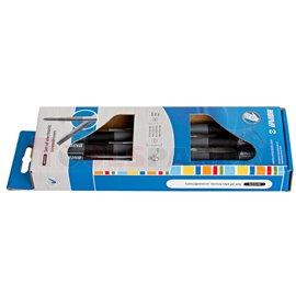 Комплект плоски и кръстати отвертки за електроника 7 бр. - UNIOR