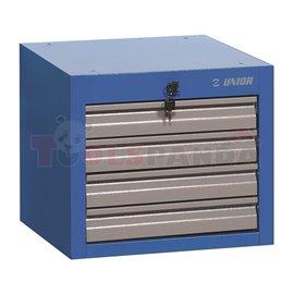 Тесен инструментален шкаф за монтаж под работен плот , с 4 чекмеджета | UNIOR