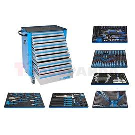 Инструментална количка Unior 940EV6 с комплект инструменти в SOS подложки - UNIOR