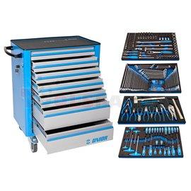 Инструментална количка Unior 940EV4 с комплект инструменти в SOS подложки - UNIOR