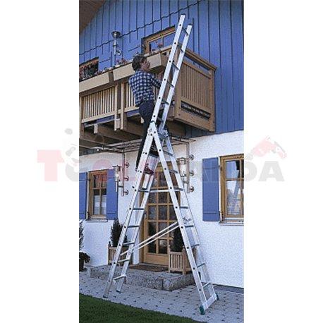 Многофунционална стълба в три части Hobby - 7.6м - MEVA