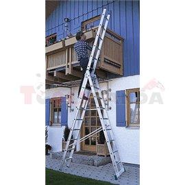 Многофунционална стълба в три части Profi - 9.9м | MEVA