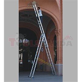 Многофунционална стълба в три части Profi - 8.8м | MEVA