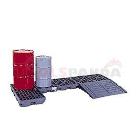Пластмасова каптажна вана за 2 варела | MEVA