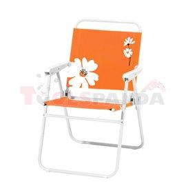 Стол туристически сгъваем оранжев