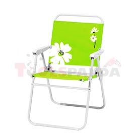 Стол туристически сгъваем зелен