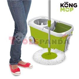 Моп въртящ с кофа с колелца Kong Mop