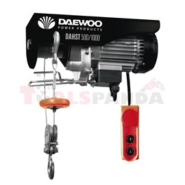 Телфер електрически 1800W 12m/500 kg, 6m/1000 kg | DAEWOO