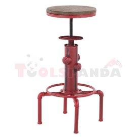 Бар стол регулиеруем метал/дърво ф33х60-75см. Old school black