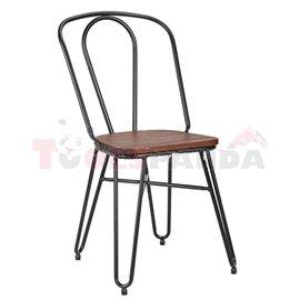 Стол метал/дърво 51х43х87см.