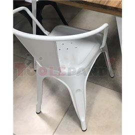 Стол метален с подлакътник 48х51х74см. Retro white