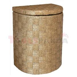 Кош за дрехи бамбук полукръг светъл малък 32х25х42см.