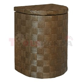 Кош за дрехи бамбук полукръг тъмен малък 32х25х42см.