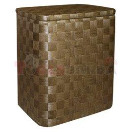 Кош за дрехи бамбук правоъгълен тъмен малък 34х24х42см.