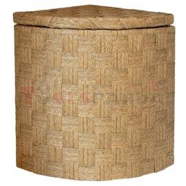 Кош за дрехи бамбук ъглов светъл малък 30x30x42см.
