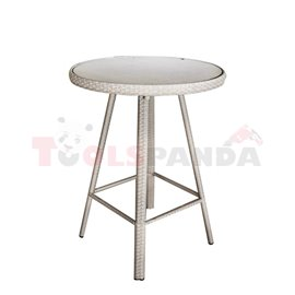 Бар маса кръгла PVC ратан/алуминиева рамка 78х110см.