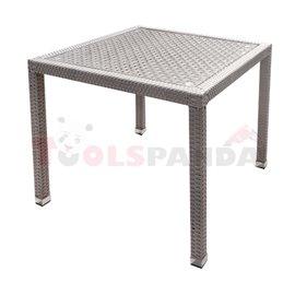Маса градинска разглобяема PVC ратан/алуминиева рамка 90х90х75см.